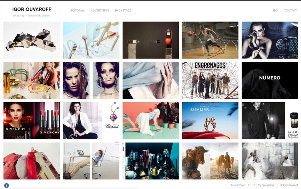 réalisation site web igor ouvaroff setdesigner paris